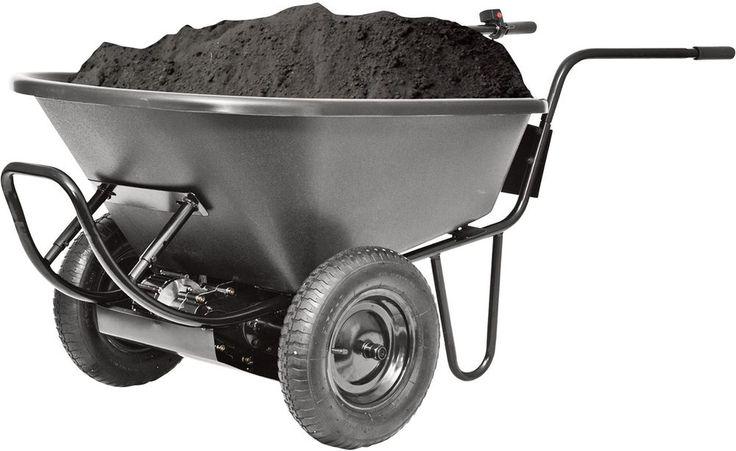 New Powered Wheelbarrow 24V Battery-Operated Yard Garden Landscape Lawn Cart  #PAW