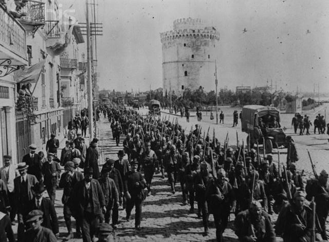 WWI troops enter Thessaloniki