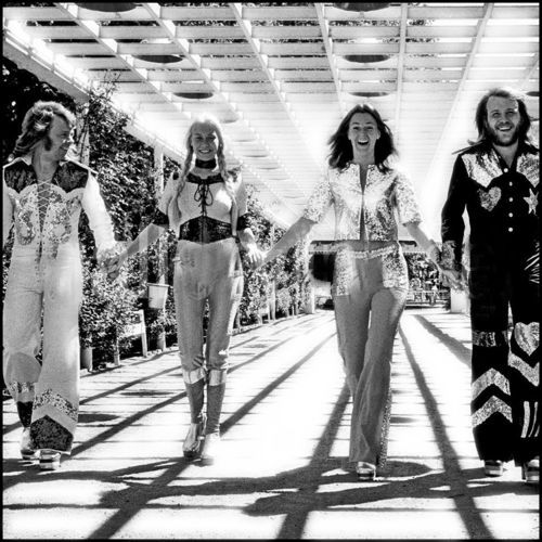 Special,early and rare ABBA pic from 1973. Wonderful photo!