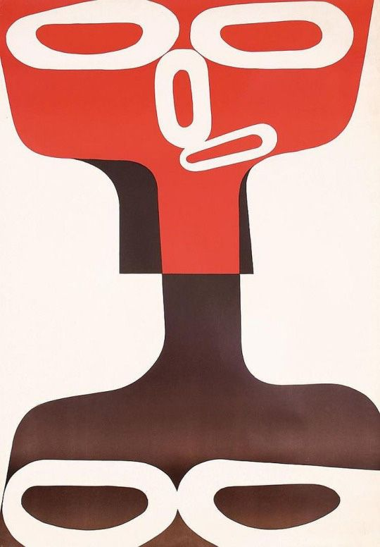 Exhibition poster for Henry Moore – Kunsthalle Bern, 1950. Unknown artist.