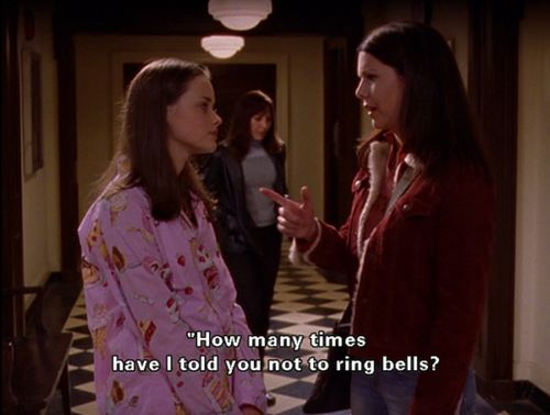 """A ""P"" to start, two ""F's"" at the end and a ""U"" sitting in between..."" #gilmoregirls"
