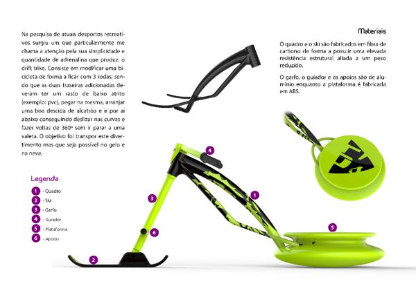 5F's snow bike project by André Marques