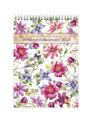 WEEKnotitiekalender CLEMATIS 2018 van Janneke Brinkman-Salentijn. Nu te koop in de https://www.jannekebrinkmanshop.com/