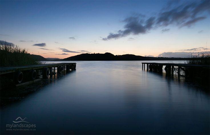 soft sunrise. island lake, near wilderness, garden route, south africa