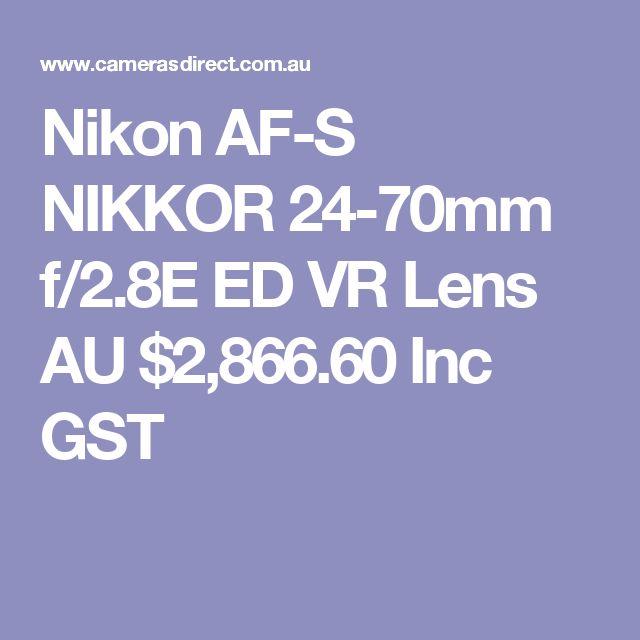 Nikon AF-S NIKKOR 24-70mm f/2.8E ED VR Lens  AU $2,866.60 Inc GST