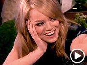 Kiss and tell! Ellen asks Emma Stone to choose between Ryan Gosling and Andrew Garfield -- VIDEO