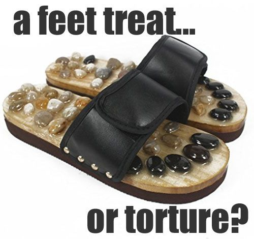 Natural Stone Massage Shoes - A Reflexology Acupressure Feet Treat or Awful Torture?