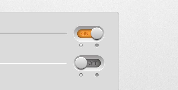 simple on off switch - user interface design