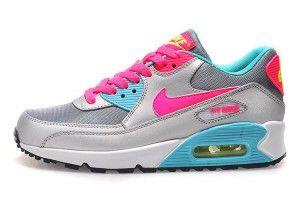 Vendita online scarpe da ginnastica nike air max 90 essential donna argento rosa cielo blu prezzo di fabbrica