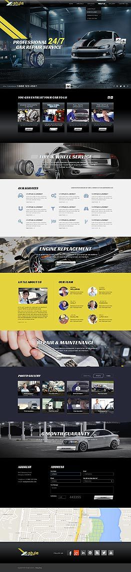 Auto service Bootstrap template ID: 300111830