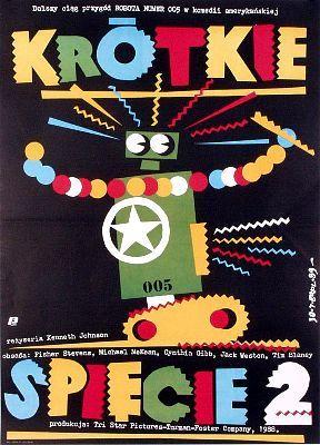 Bad movie / Rad poster - Short Circuit 2, aka Krotkie Spiecie 2 in Polish