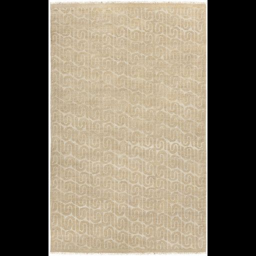 Vichy Hand Knotted Oyster Area Rug