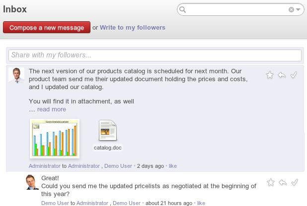 Odoo - Enterprise Social Network