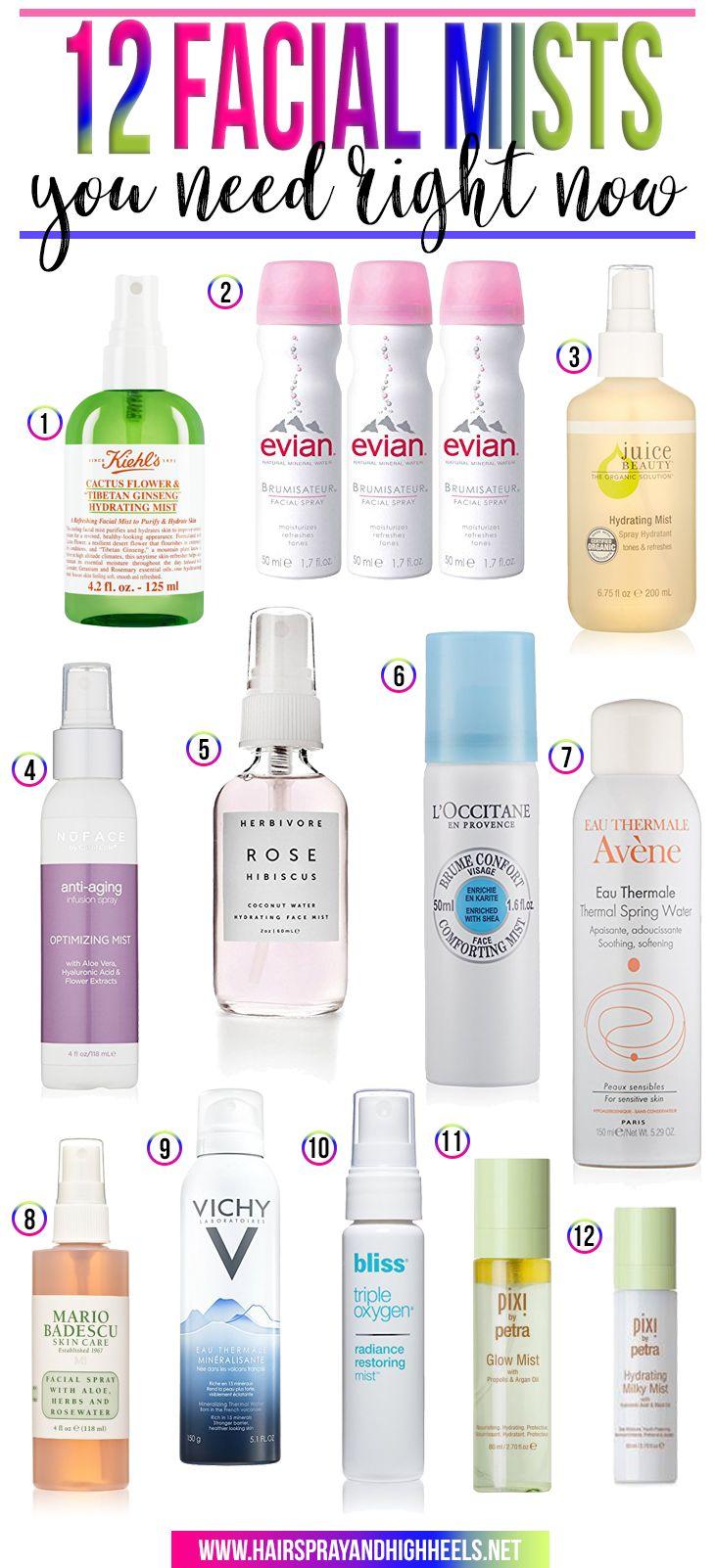 12 Facial Mists You Need Right Now - Hairspray and Highheels http://www.hairsprayandhighheels.net/2017/05/12-facial-mists-need-right-now/