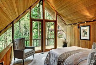 Craftsman Master Bedroom with Carpet, Pro Track Black 150 Watt 3-Light Low Voltage Track Kit, West Elm Nomad Coverlet