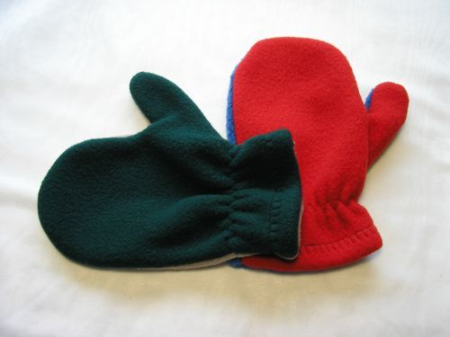 Multicoloured Toddlers Mitts.Handmade.M16 from Jacaranda £2.99