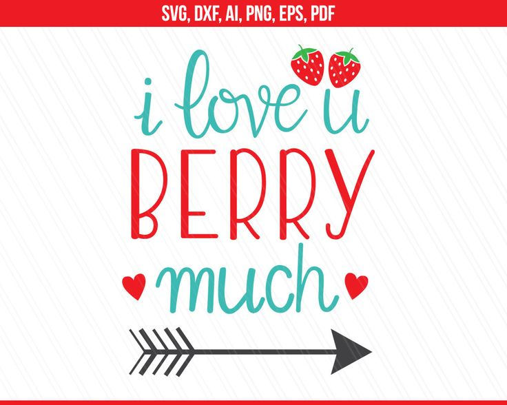 Download Love Svg, I love u svg, I love you berry much, Tshirt svg ...