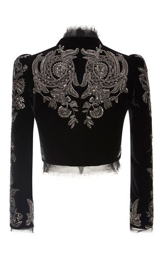 Roberto Cavalli Embroidered Cropped Jacket.  GORGEOUS!!!!