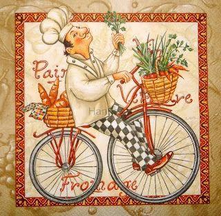 Chef on bike