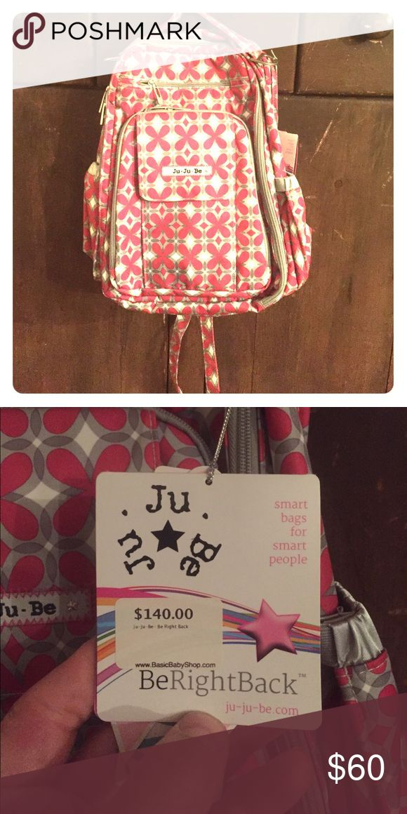 JuJuBe BeRightBack - Pink Pinwheels Fun, stylish, durable, flexible. JuJuBe bags are designed for every mom, easy to clean and durable. jujube Bags Backpacks
