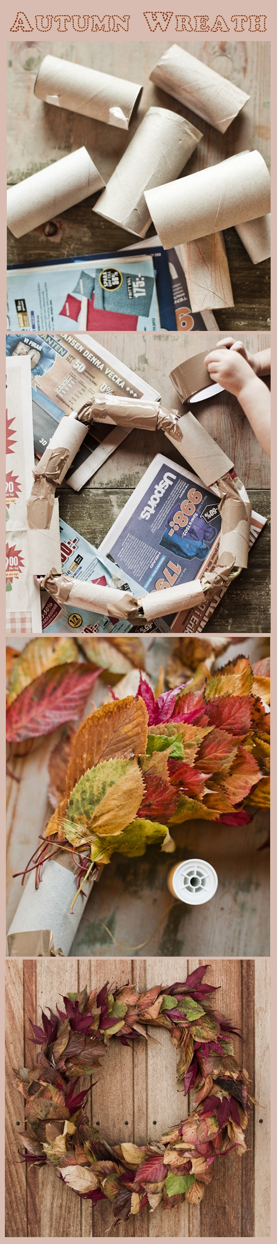 An easy way to make a beautiful autumn wreath. DIY wreath. Photo: Lina Östling