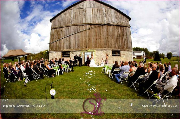 A great summer day for a barn wedding.