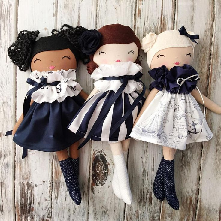 A trio of lovelies handmade by SpunCandy See this Instagram photo by @spuncandydolls • 357 likes