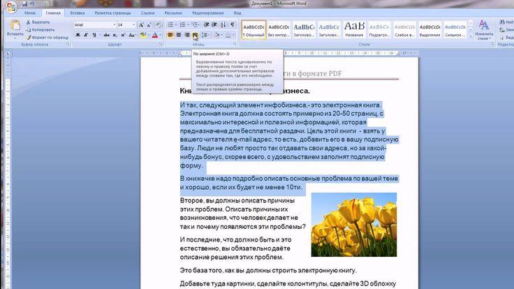 Книга в формате PDF и  как делать книгу PDF