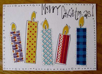 Weihnachtskarten mit Washi Tape