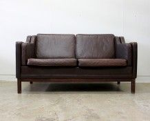 Danish leather sofa - The Vintage Shop