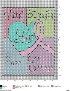 butterfly breast cancer plastic canvas pattern - Google Search