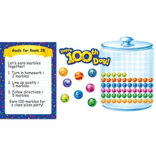 Classroom Marble Jar Ideas ~ Marble jar bulletin board set th day of school