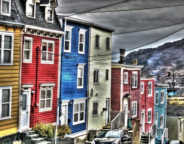"""""""Colourful houses in St. John's, Newfoundland"""""""