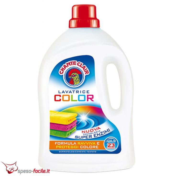 € 2,99  CHANTECLAIR DETERSIVO LAVATRICE COLOR. l detersivo per lavatrice Chanteclair Color è creato con una formula concentrata che ravviva e protegge i colori per donare splendore e brillantezza alle fibre del bucato, preservando nel tempo l'intensità del colore.