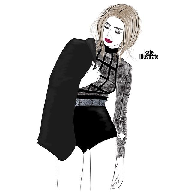 I am still pretty much figuring out my style. But I particularly like this one.. What do you think, guys?? :-) Inspo: @ginavaia #kateillustrate