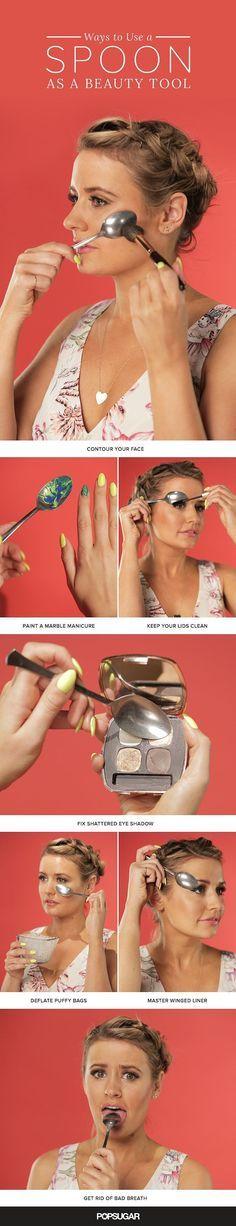 Spoon Beauty Hacks | Video | POPSUGAR Beauty