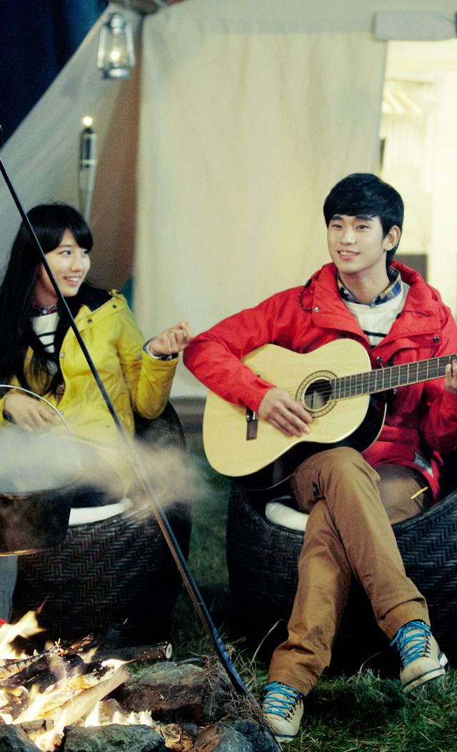 Adorable Winter CF and BTS Footage of Suzy and Kim Soo Hyun for Bean Pole