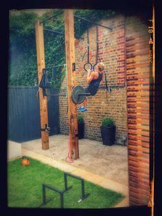 trx frame diy  google search …  backyard gym diy home