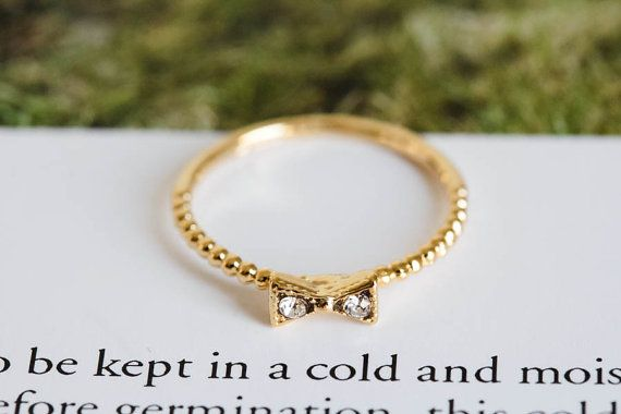 cz ribbon knuckle ringsstacked ringsstackable by LETTERSEARRING, $7.80