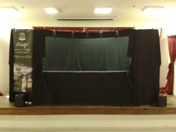 Our stage!! 13ft width 6ft tall!! And the show begins!