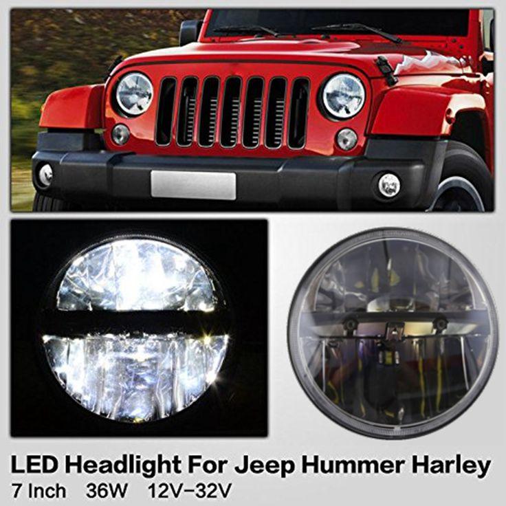 87.04$  Watch now - http://aliyx7.shopchina.info/go.php?t=32718502767 - 7 Inch LED Headlight Conversion Kits With Super Bright LEDs Light For Jeep Wrangler Jk TJ FJ Hummer Trucks Motorcycle Headlamp 87.04$ #magazine