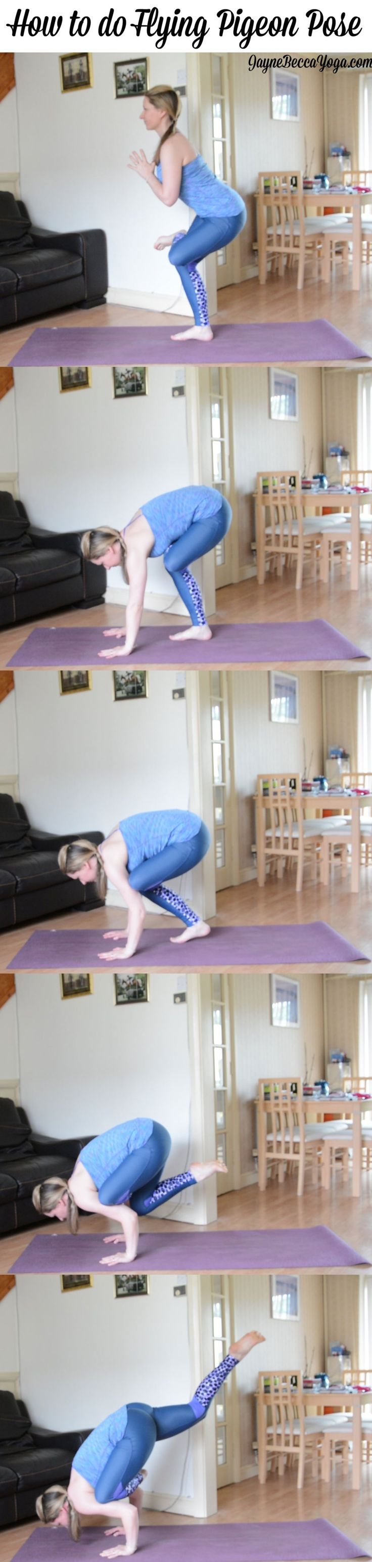 How to do Flying Pigeon Pose - Jayne Becca Yoga