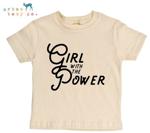 Girl With The Power Organic Cotton Toddler Tee – Urban Baby Co.