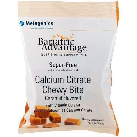Bariatric Advantage Calcium Citrate Chewy Bites 250mg (Bag of 60) - Available in 4 Flavors!