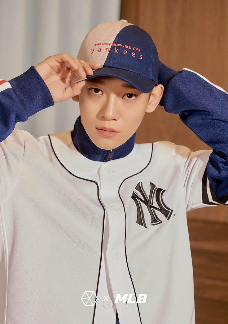 180313 #EXO #CHEN @ MLB Official Website: < MLB X EXO >