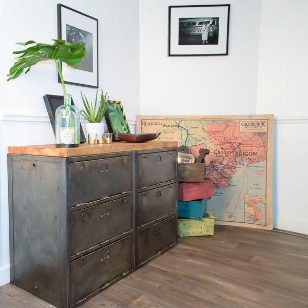 Les 58 meilleures images propos de meubles industriel sur pinterest indus - Restauration meuble industriel ...