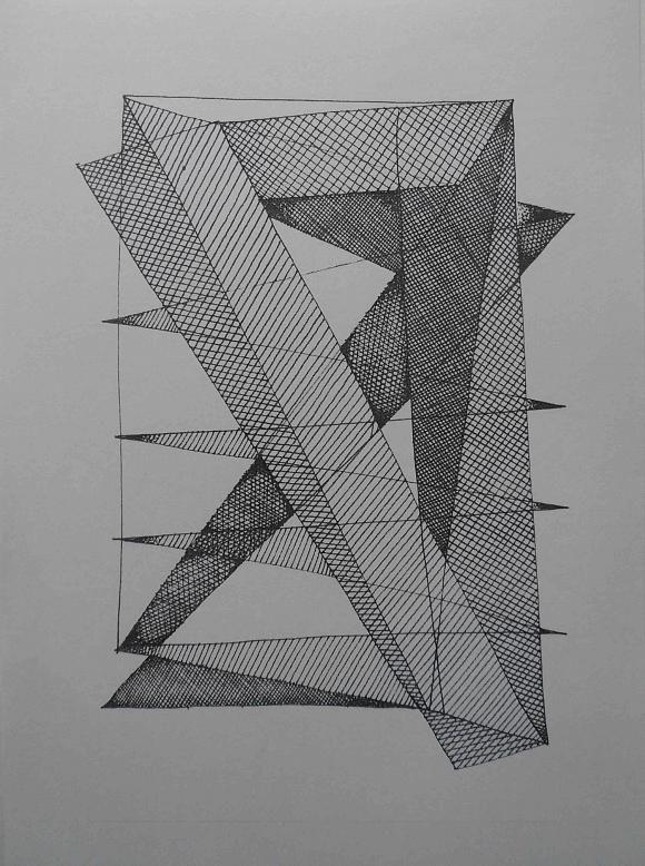 геометрическая композиция, автор Слава Ким. Артклуб Gallerix