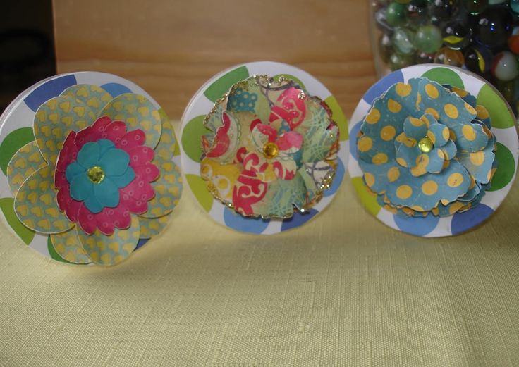 Supplies Containers Three Containers Decorated for loose Beads, Buttons, pins, etc by nanasarah on Etsy