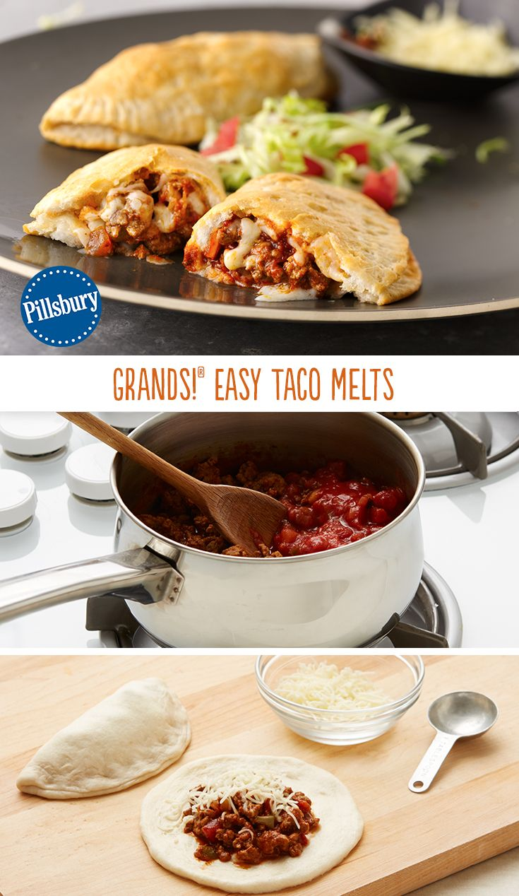 A tender, flaky biscuit wraps around your favorite taco fillings in an easy, flavor-packed hot sandwich. This weeknight dinner is a family-favorite you can make again and again!