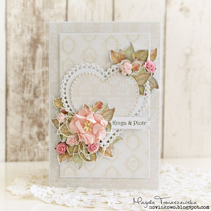 Blog studio75.pl: Kartka ślubna / Wedding card